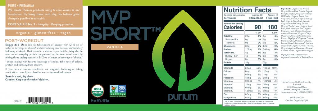 Purium MVP Sport